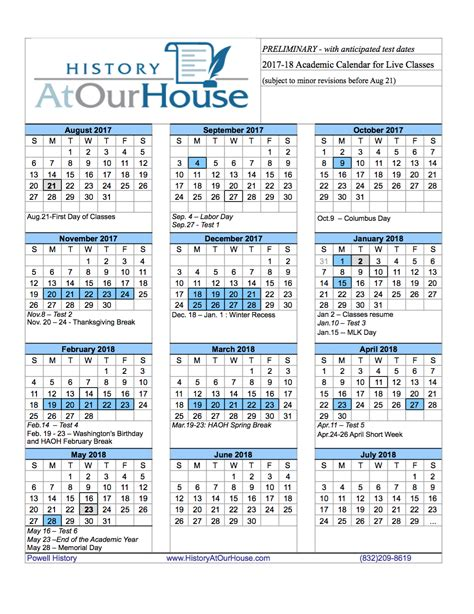 printable yearly calendar 2017 18 2017 18 news history at our house