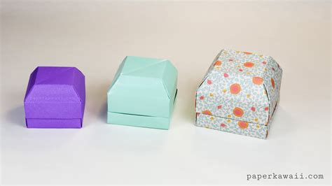 Origami Gem - origami gem gift box tutorial great as a ring box