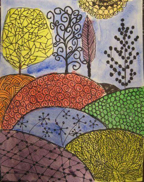 watercolor ink pattern angela anderson art blog zentangle pen ink watercolor