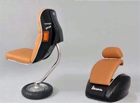 sedia vespa turn vintage vespa scooters into office furniture