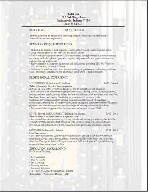 Teller Resume Sample   Sample Resume