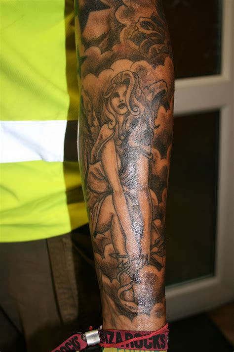 cherub sleeve tattoo designs arm tattoos and designs page 40
