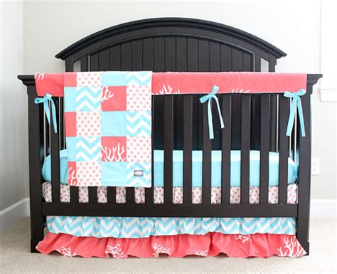 under the sea crib bedding ocean crib bedding under the sea coral and aqua baby girl