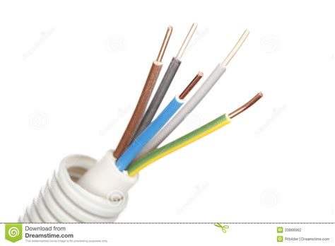 white electrical wire copper wire stock photography image 33866962