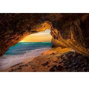 Landscape Nature Cave Beach Sea Sunset Sand Island