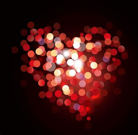 valentine bokeh heart shaped light background free