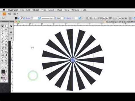 illustrator pattern array radial stripes in cs4 illustrator youtube