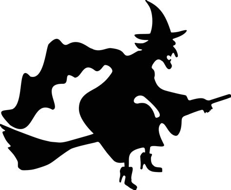 free silhouette images witch flying silhouette free vector clipart