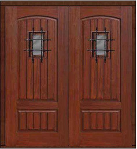Front Door With Speakeasy Prehung Speakeasy Home Door 80 Fiberglass2 Panel V Grooved Solid Rustic Front Doors