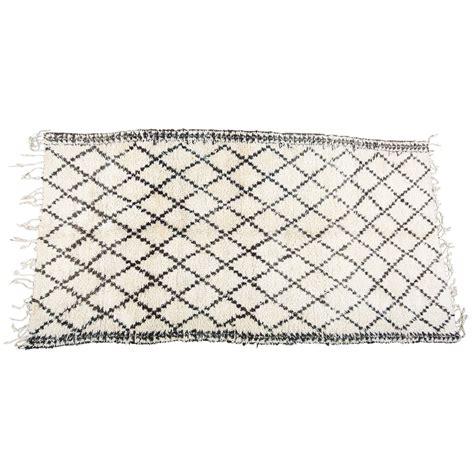 black and white moroccan rug moroccan white and black beni ouarain rug at 1stdibs
