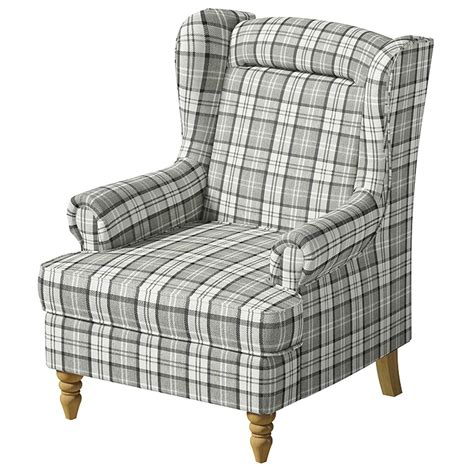check fabric armchair mycroft winged armchair grey check fabric accent easy