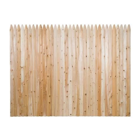 6 ft h x 8 ft w privacy eastern white cedar moulded 3 in
