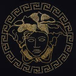 Versace black and gold wallpaper for pinterest