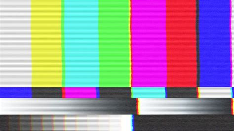 test pattern hd test pattern tv bad signal 25 fps stock footage video