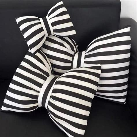 black and white striped pillow bow pillows black and white striped neck pillow decorative