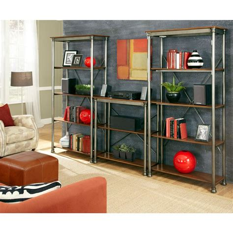 home shelving home styles 13 shelf 114 in w x 76 in h x 16 in d wood