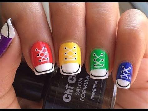 tutorial nail art converse converse shoe nail art youtube