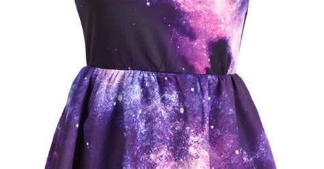 galaxy pattern clothes purple pink sleeveless galaxy pattern dress so cute