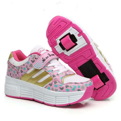 roller shoes children heelys fashion sneakers with one two wheels