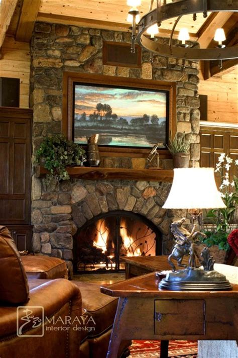 rustic fireplace ideas mountain home living room with fireplace rustic