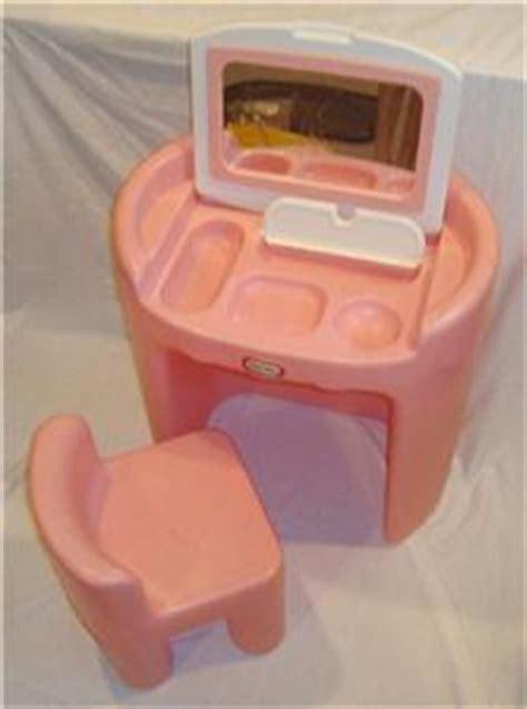 pink vintage tikes vanity flip top mirror