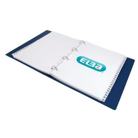 Elba Sorter Book A4 Tabs elba a4 mylar dividers europunched 1 50 clear tabs white 100080813