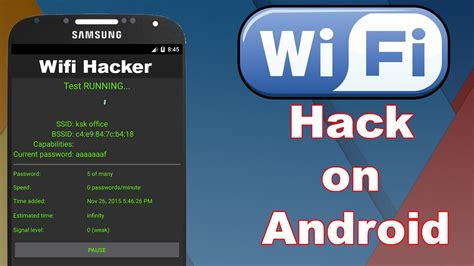 wifi password hack android how hackers hack your wifi password using android root 2017