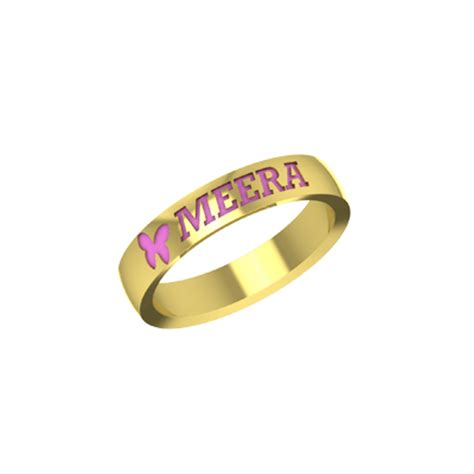 Wedding Rings With Name by Gold Wedding Rings With Names Engraved Augrav