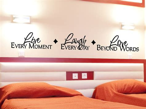 live bedroom master bedroom wall decal live laugh wall decor