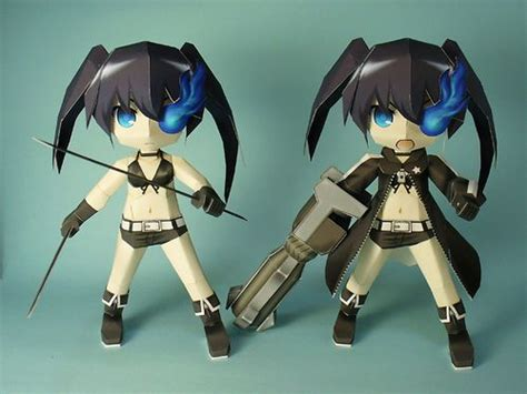 Black Rock Shooter Papercraft - 17 best ideas about papercraft anime on paper