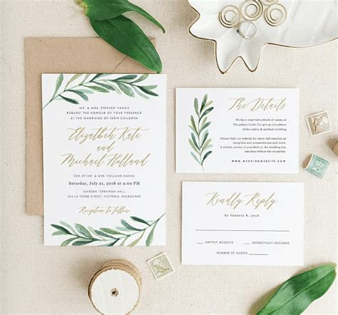 Wedding Invitation Ideas 2018