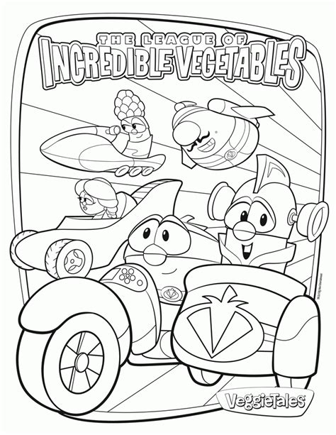 veggie tales coloring page coloring home