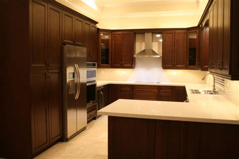 remodeled kitchen cabinets new remodeled wood cabinet kitchen miami general contractor