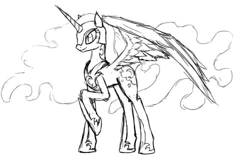 my little pony coloring pages nightmare moon princess luna and nightmare moon coloring pages coloring pages
