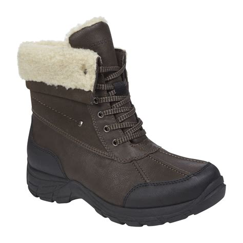 sears mens snow boots structure s kasper fur lined winter boot brown