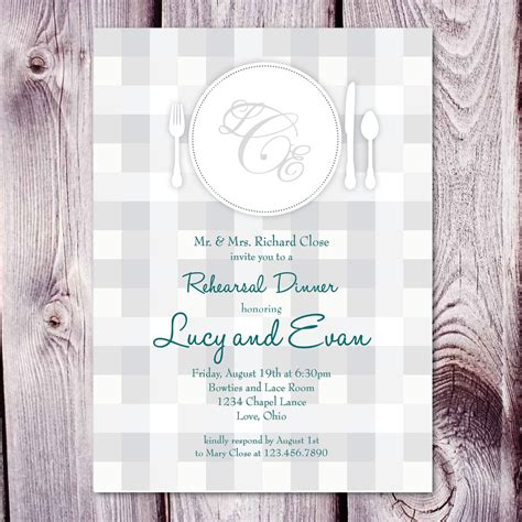 Dinner Invitation Card Template Free by Rehearsal Dinner Invitation Template Card Invitation