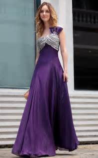one shoulder purple bridesmaid dress ipunya