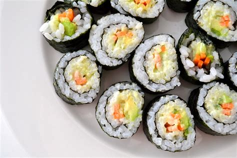 vegetables used in sushi vegetable sushi with wasabi mayonnaise sweetest kitchen