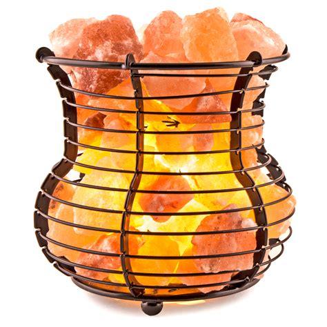 himalayan natural salt basket l crystal allies gallery natural himalayan salt wire mesh