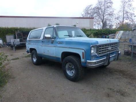 Californa Blazer buy used 1975 chevy k5 blazer in oakdale california