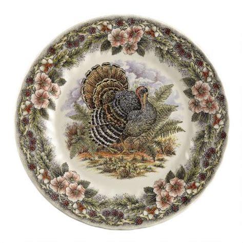 churchill 169 thanksgiving china dinner plates set of 2