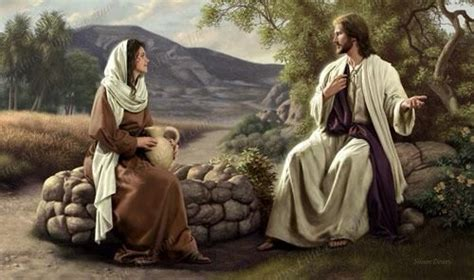 jesus is the living water woman at the well jesus and the samaritan woman jesus christ artwork
