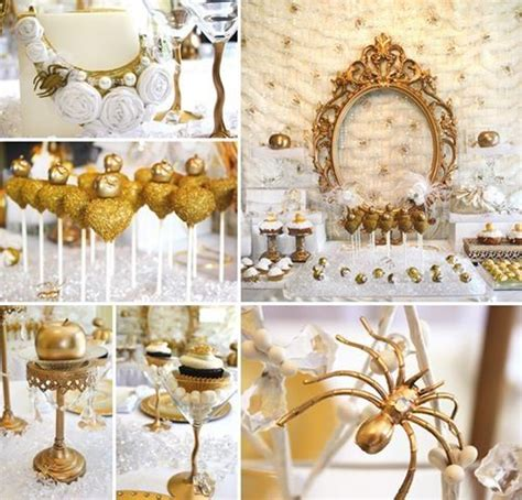 gold themes party gold white snow white birthday party birthday party