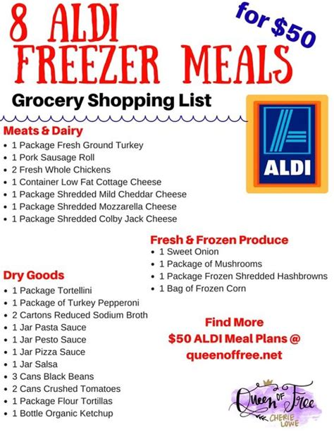 printable aldi grocery list make dinner for less this week posts cas and for less