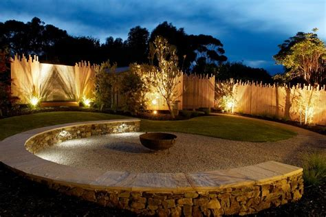 Outdoor Fence Lighting Garden Fence Lighting Ideas Patio Contemporary With Wicker Furniture Wicker Furniture Wicker