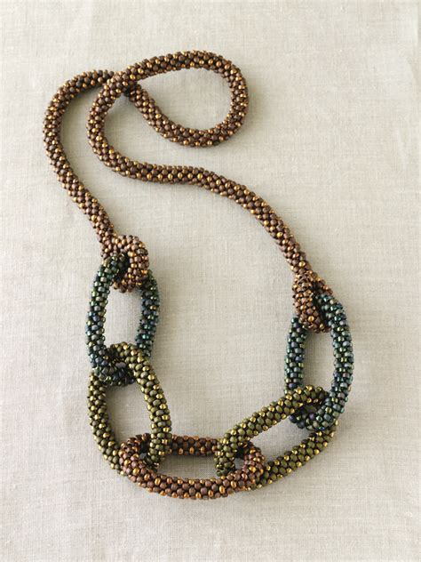 how to make chain jewelry the simplicity and elegance of bead crochet jewelry smp