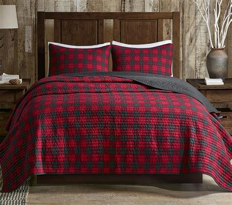 buffalo plaid bedding red buffalo check quilt set
