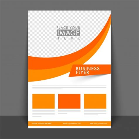 professional business flyer design with space for your