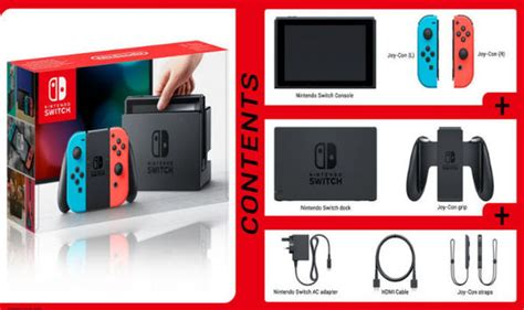 Nintendo Switch Neon Blue Include 2 1 2 Switch nintendo switch price set for the uk switch box content