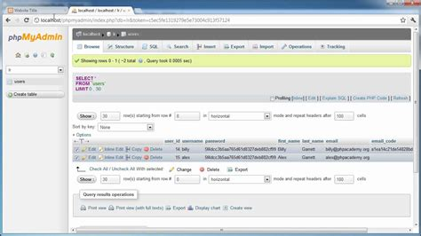 php tutorial user login php tutorials register login part 16 user profiles